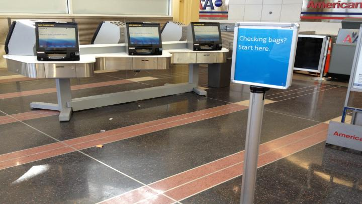 American Airlines self service check in