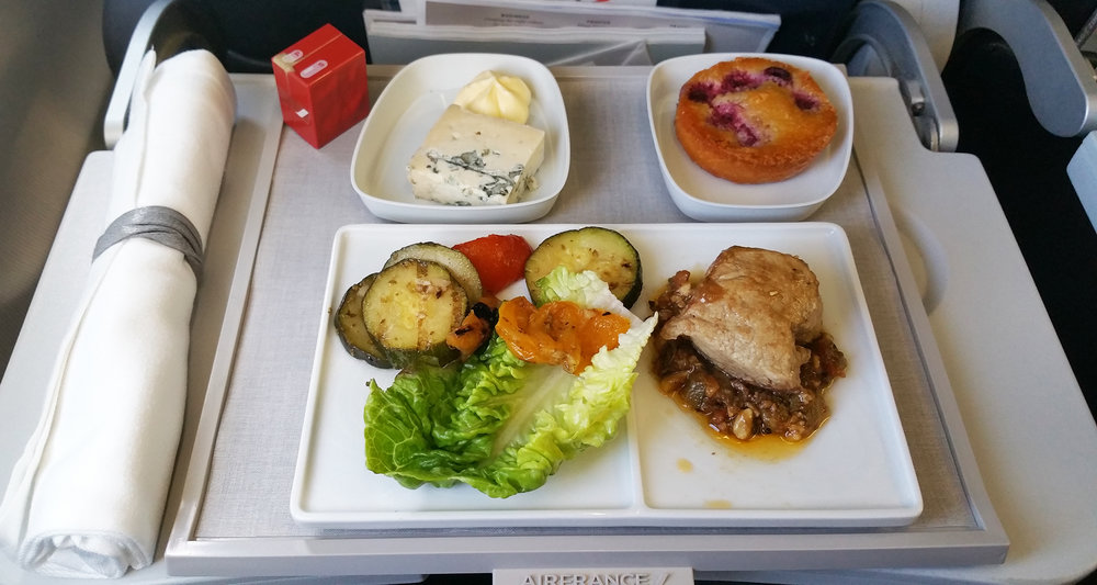Air France food and drinks