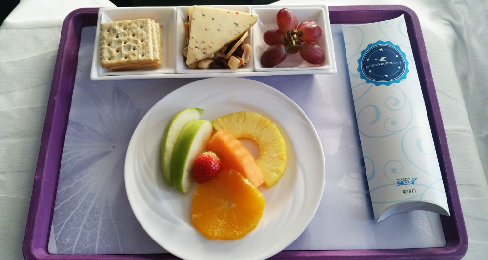 Xiamen Airlines food and drinks