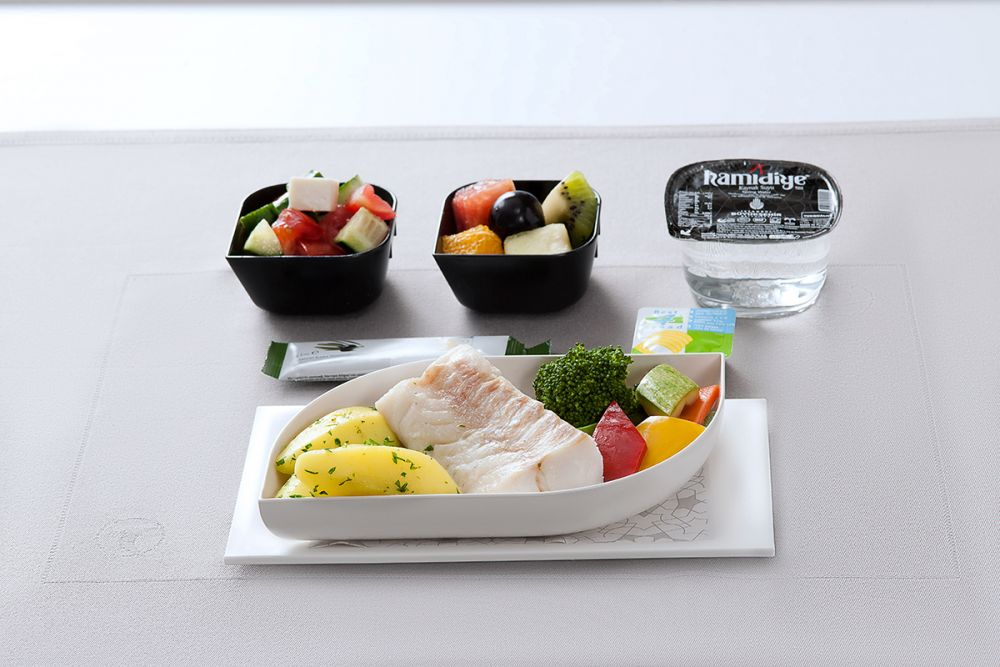 Turkish Airlines food and drinks