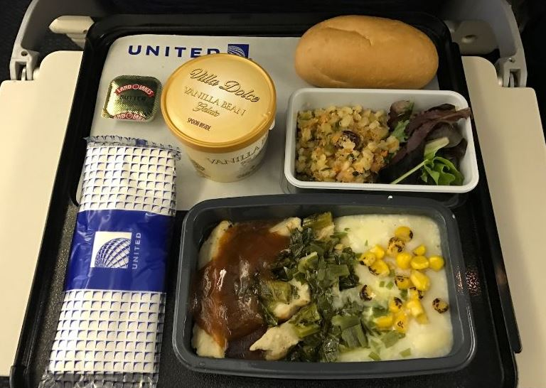 United Airlines Economy Class Meal
