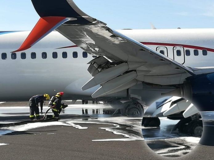 Aeromexico failure in landing gear