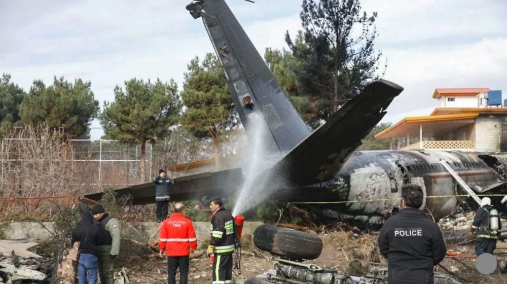 Iran military Boeing 707 cargo plane crash near Tehran
