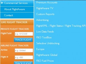 Commercial Services offered by FlightAware