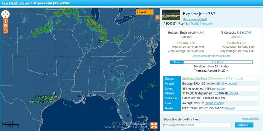 Live Flight Tracking Map by FlightAware