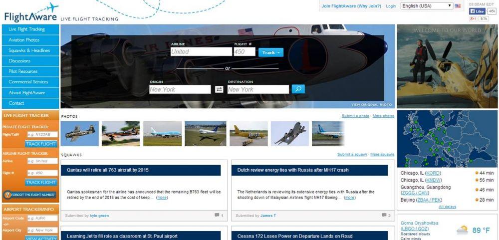 Live Flight Tracking by FlightAware