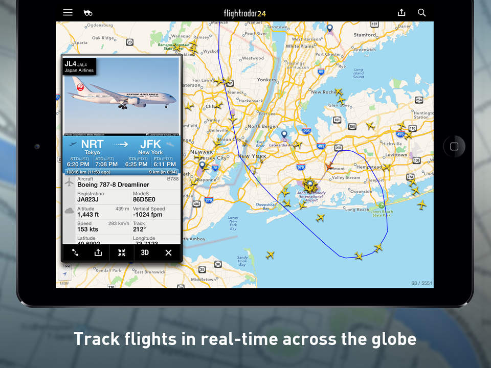 FlightRadar 24 PRO - the best flight tracking app for iPhone and iPad devices