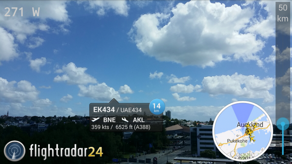 FlightRadar 24 PRO 3D augmented reality available for iPhone and iPad devices