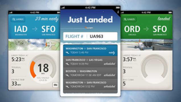 Just Landed - the right iOS app for airport pick-up duties