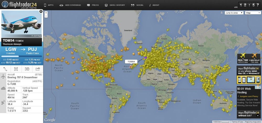FlightRadar24 - real time flight tracking & aircraft tracking system