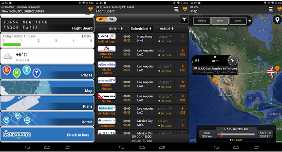 Airline Flight Status Tracking App for Android mobile devices