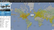 Real time aircraft tracking by FlightRadar24